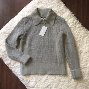 COS Textured Mohair Sweater with Removable Collar